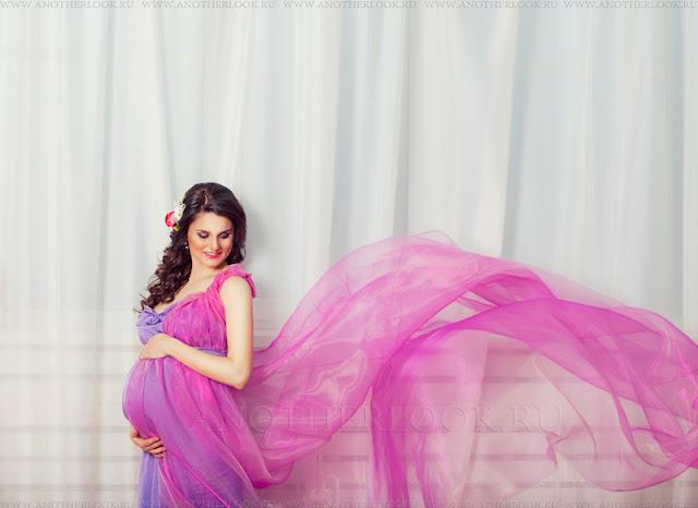 летящая ткань фотосессия беременность