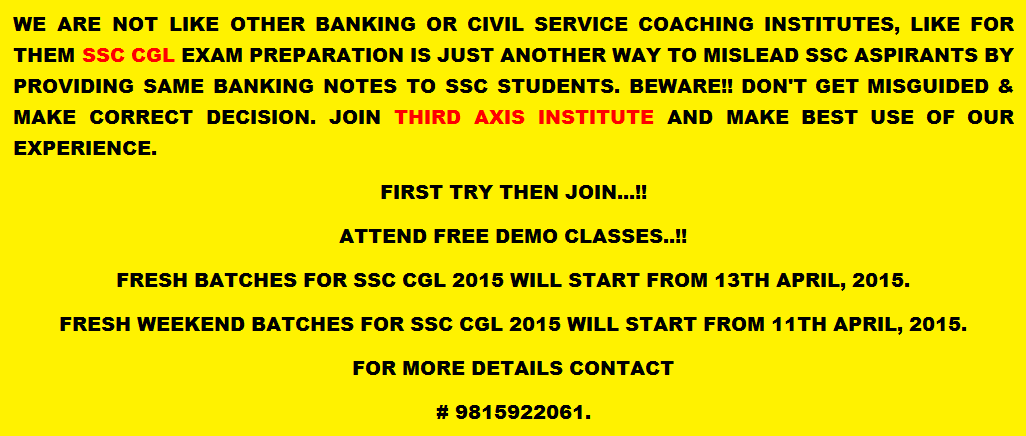 best ssc cgl coaching inchandigarh