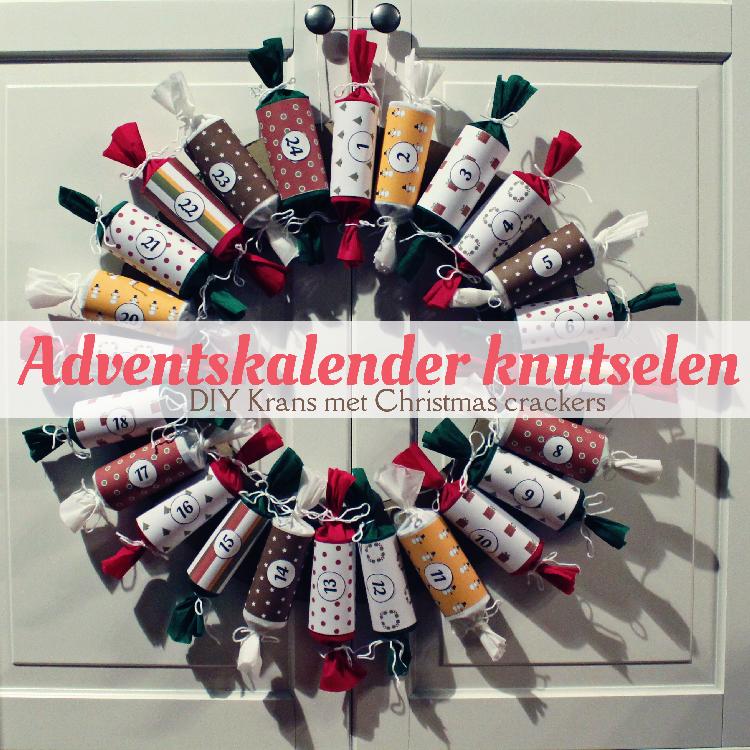 Mizflurry handleiding adventskalender knutselen krans met christmas crackers 2014 - Deco wc rood ...