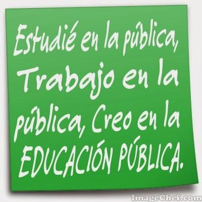 Vaig estudiar a la pública,treballo a la pública i crec en l'educació pública