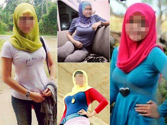 Fesyen Jilboobs awek bertudung tayang payudara