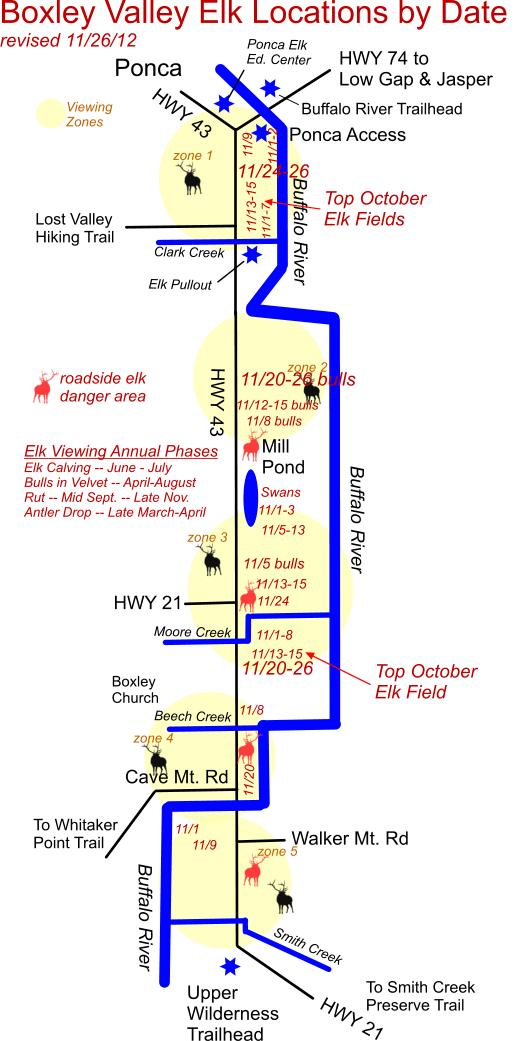 11/26/12 Elk Herd Location Map