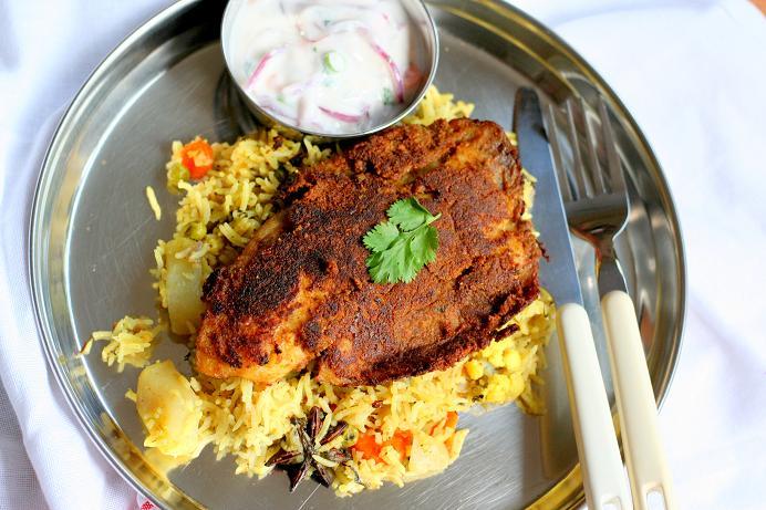 pan fried masala fried fish fillet