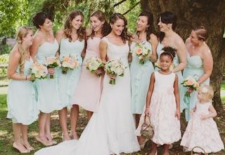 casamento vestido mint green