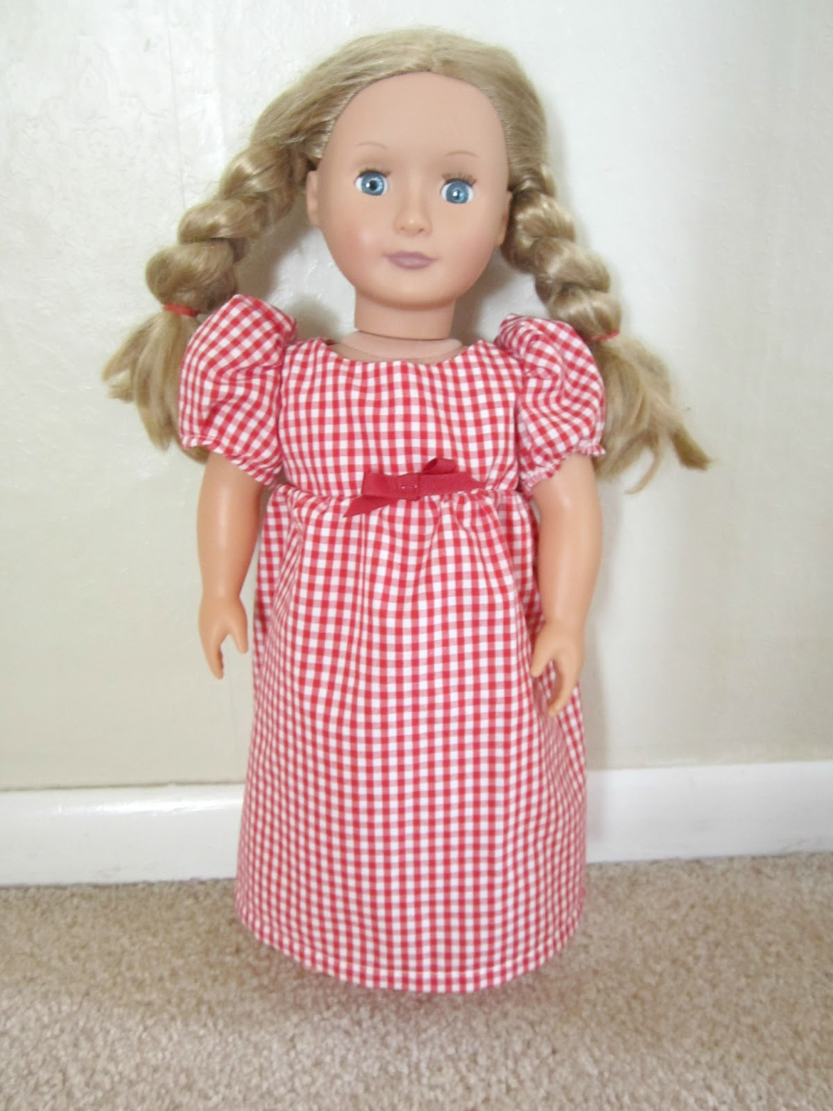 Crafty couple diy american girl doll dress for American girl crafts diy