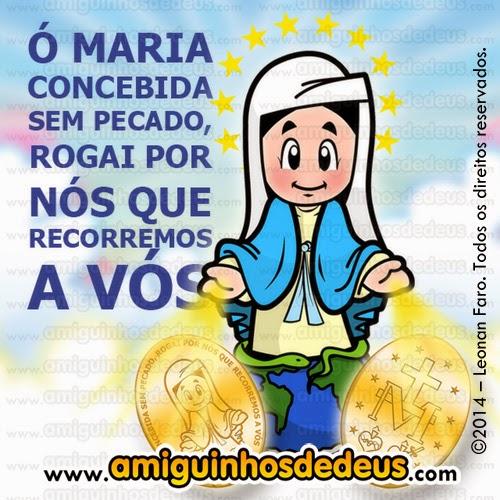 Nossa Senhora das Graças da Medalha Milagrosa desenho