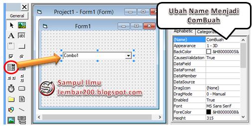 Cara Mudah Menggunakan ComboBox Di VB