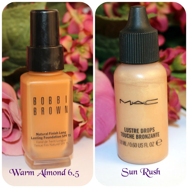 Mac Lustre Drops / Bobby Brown Natural Finish Foundation