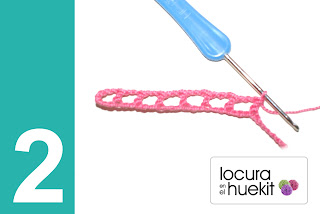 2. Paso a paso flor crochet en relieve