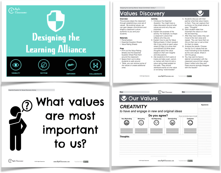 Agile Classrooms: Values Discovery