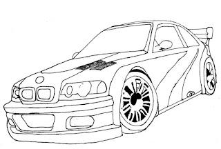desenhar Carros tunados e colorir