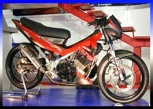 Foto Modifikasi Satria FU New Drag Style O MyOtomotif