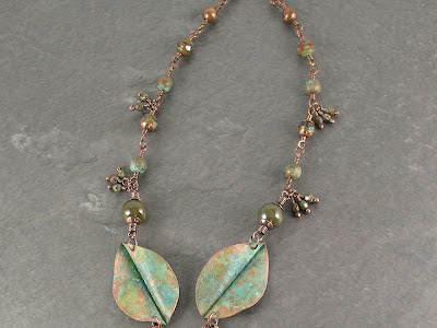 detail of crossvine necklace