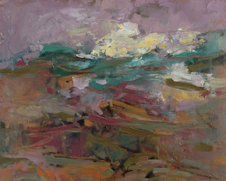 Autumn Coast by artist Karri McLean Allrich, oil 24x30
