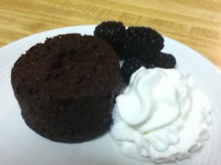 Chocolate Lava Cake Serving