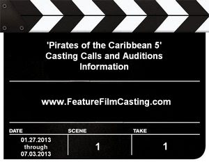 Pirates of the Caribbean 5 Casting Auditions