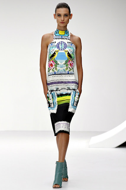 Mary Katrantzou Spring/Summer 2013 stamp print dress
