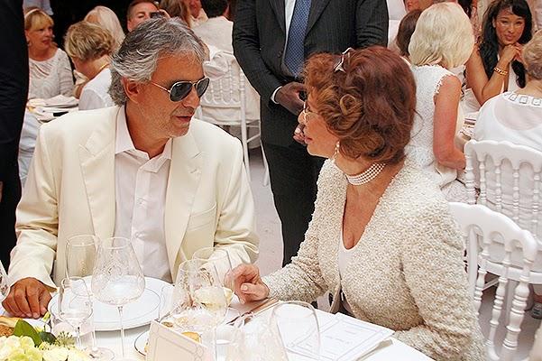 Sophia Loren and Andrea Bocelli