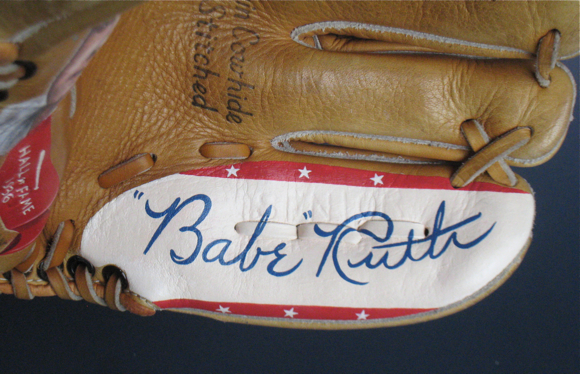 Babe Ruth Signature Painted
