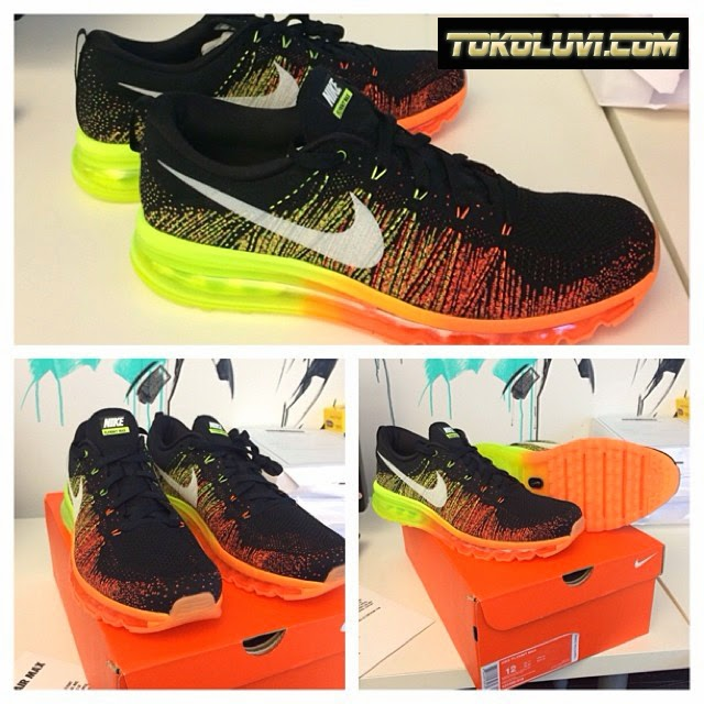 Cheap Nike Flyknit Air Max Black Turbo Kellogg Community College