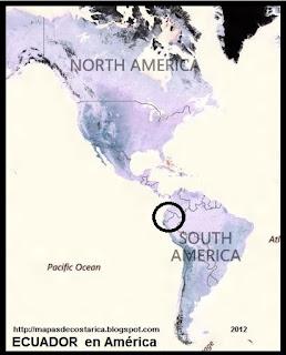 Ubicación de ECUADOR en América