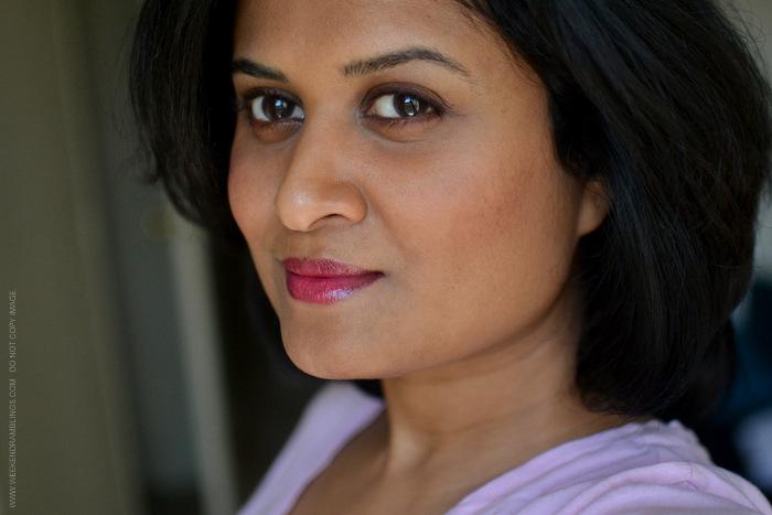 Makeup Chanel Rouge Coco Shine Fiction Lipstick Rose Petale Blush MAC Fluidline Dark Diversion Indian Beauty Blog Looks