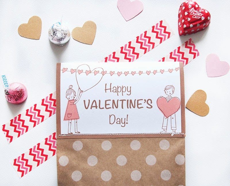 valentine printable Valentine's Day Printables Free Printable DIY favor bag