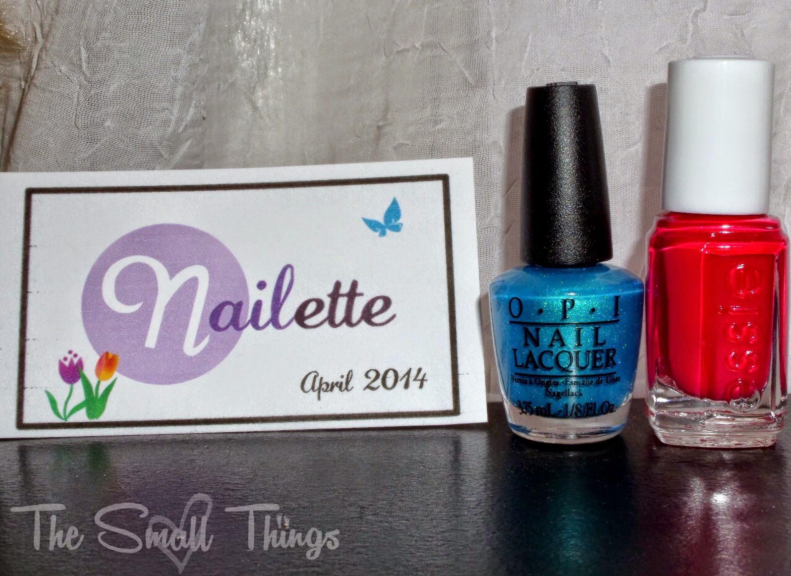 Nailette- Mini Nail Polish Subscription April 2014 Review and ...