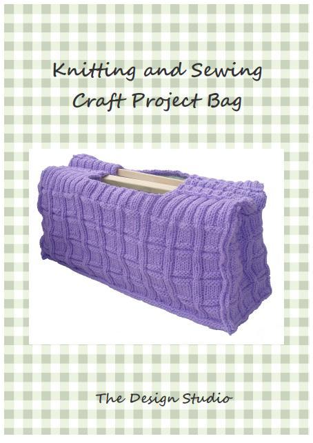 Knitting Project Bag Sewing Pattern Free : Knitting and sewing craft project bag pdf hand