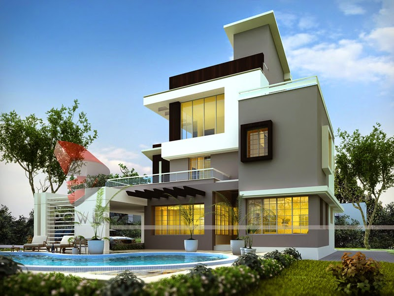 3d Rendering Home Perspective, India