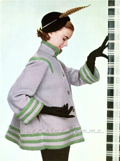 Free Pattern 1950's Knitting - Paris-Inspired Knitted Swing Coat