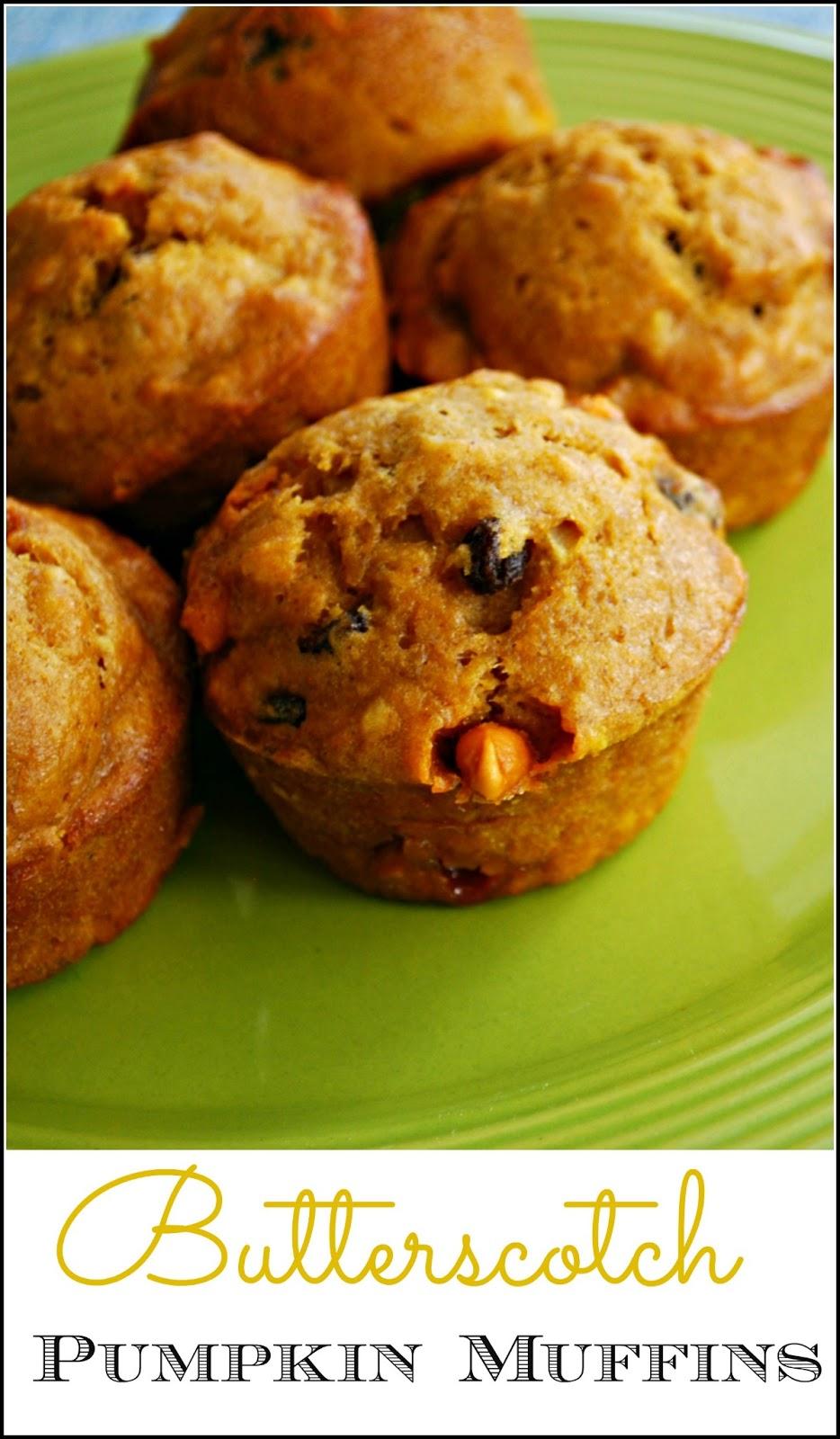 Butterscotch Pumpkin Muffin Recipe - The addition of gooey ...