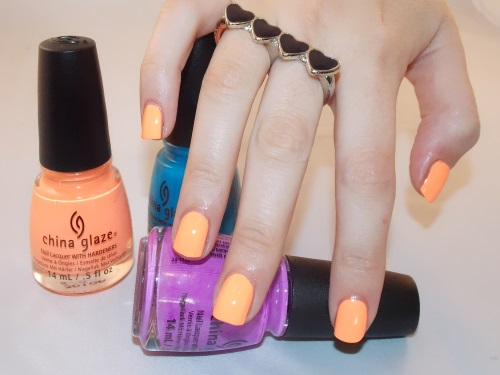 Beauté blog blogueuse psychosexy tendance summer 2013 vernis nail art china glaze sun of a peach nailstorming 9