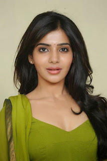 Samantha Ruth Prabhu in Green Transparent Salwar Suit Looks Extremely cute and Homely