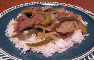 Cuban beef liver Higado a la Italiana