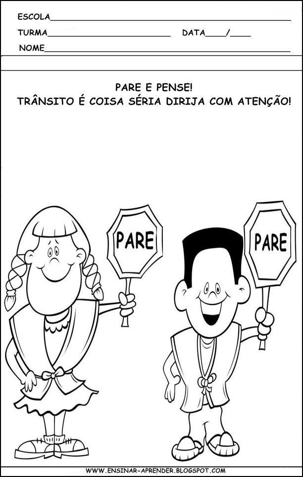 Well-known ATIVIDADES DE TRÂNSITO PARA SÉRIES INICIAIS RS24