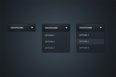 [PSD] Sleek Dropdown Menu