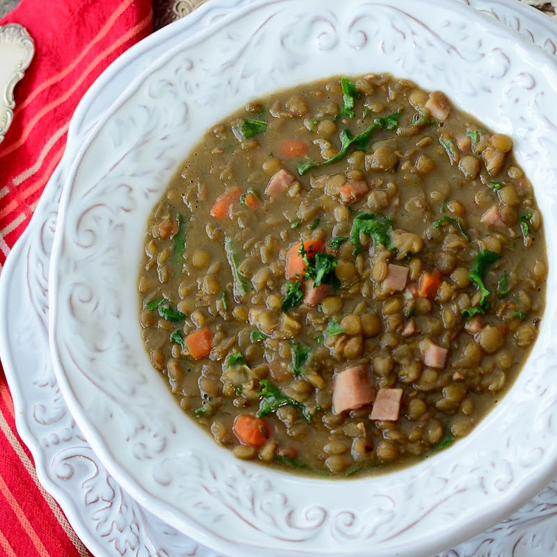 Savoring Time in the Kitchen: Lentil Soup with Ham and Kale