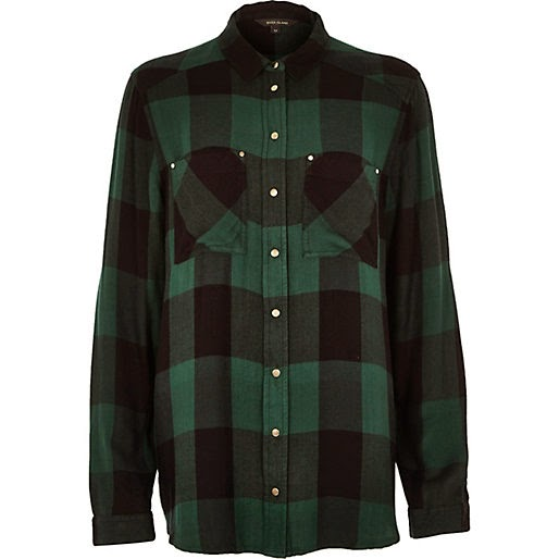 green check shirt, river island green shirt,
