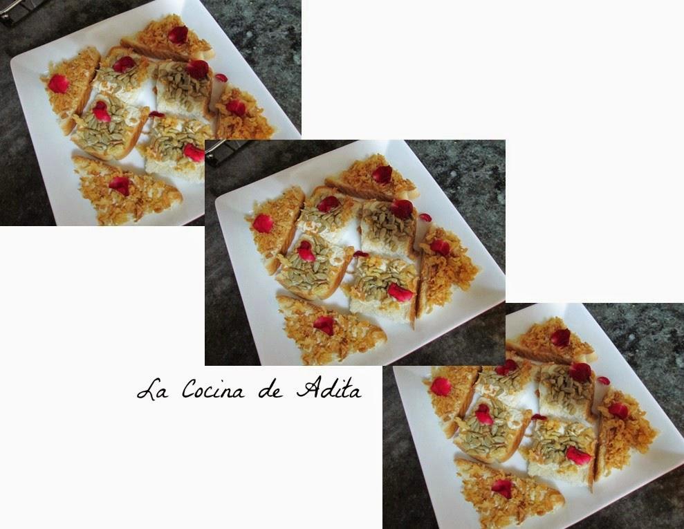 Canapes, Con Crujientes De Cebollas Y Pipas