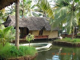 Resort in cochin built on the backwater