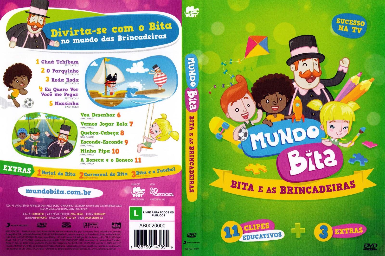 Capa DVD Mundo Bita Bita EAs Brincadeiras