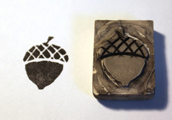 inked acorn stamp