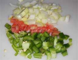 помидор и репчатый лук