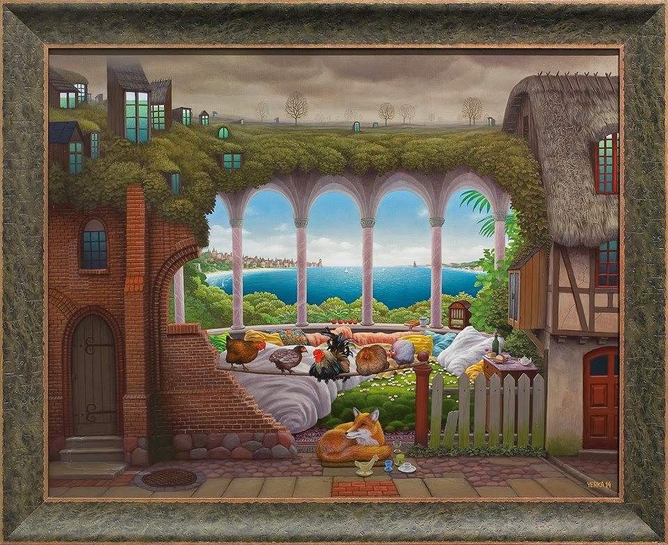 22-Weekend-Jacek-Yerka-Surreal-Paintings-Parallel-Universes-www-designstack-co