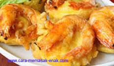 resep praktis dan mudah membuat (membikin) makanan ringan sederhana bakwan udang spesial enak, gurih, lezat