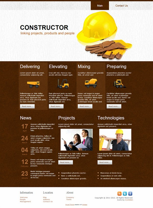 Constructor - Free Drupal Theme