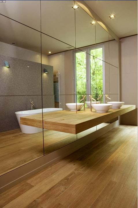 Brilliant Floating Mirror  Bathroom Love  Pinterest
