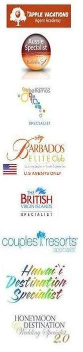 Our travel agents are specialists and hold certifications in the following: