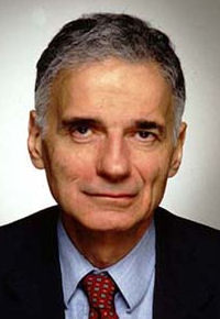 RALPH NADER (1934-PRESENT)  ENVIRONMENTAL ACTIVIST, INDEPENDENT POLITICIAN